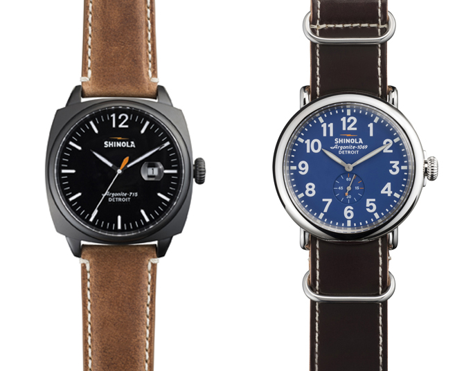 Shinola - The Brakeman 46mm 625€ - The Runwell 41mm 625€