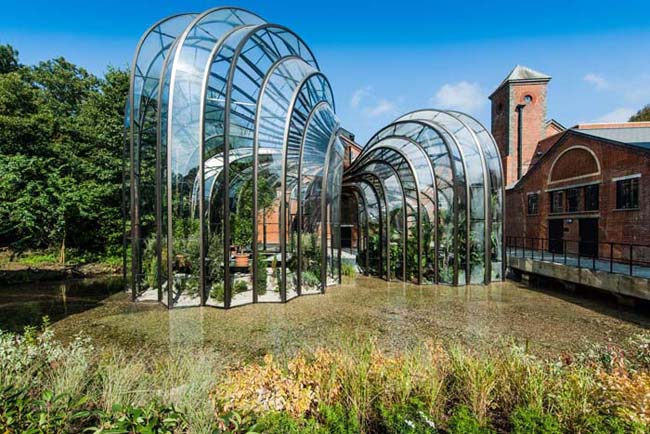The-botanical-glasshouses-designed-by-Thomas-Heatherwick-and-Heatherwick-Studios-taking-centre-stage-at-Laverstoke-Mill