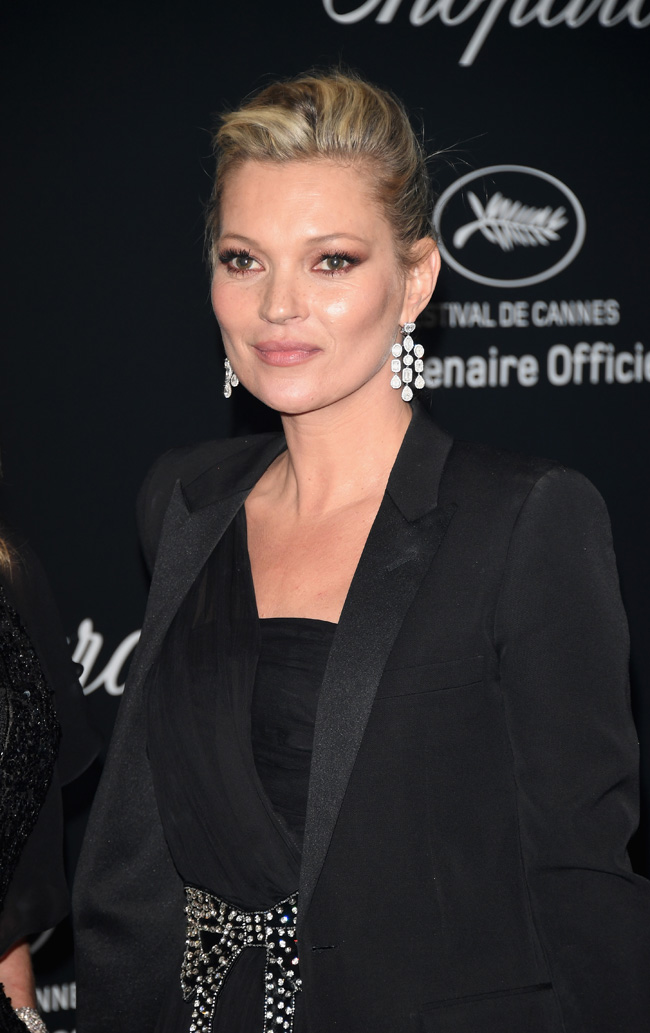 CANNES, FRANCE - MAY 16: Kate Moss attends Chopard Wild Party as part of The 69th Annual Cannes Film Festival at Port Canto on May 16, 2016 in Cannes, France. (Photo by Daniele Venturelli/Getty Images) *** Local Caption *** Kate Moss